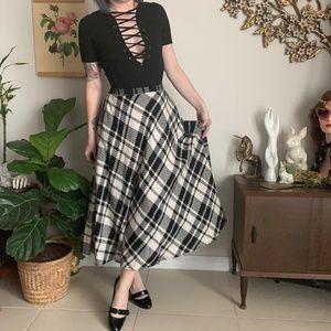 Vintage TanJay Midi Bias Cut Knit Circle Skirt